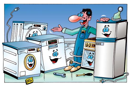 Service für Waschmaschine / Spülmaschine / Trockner / Herd